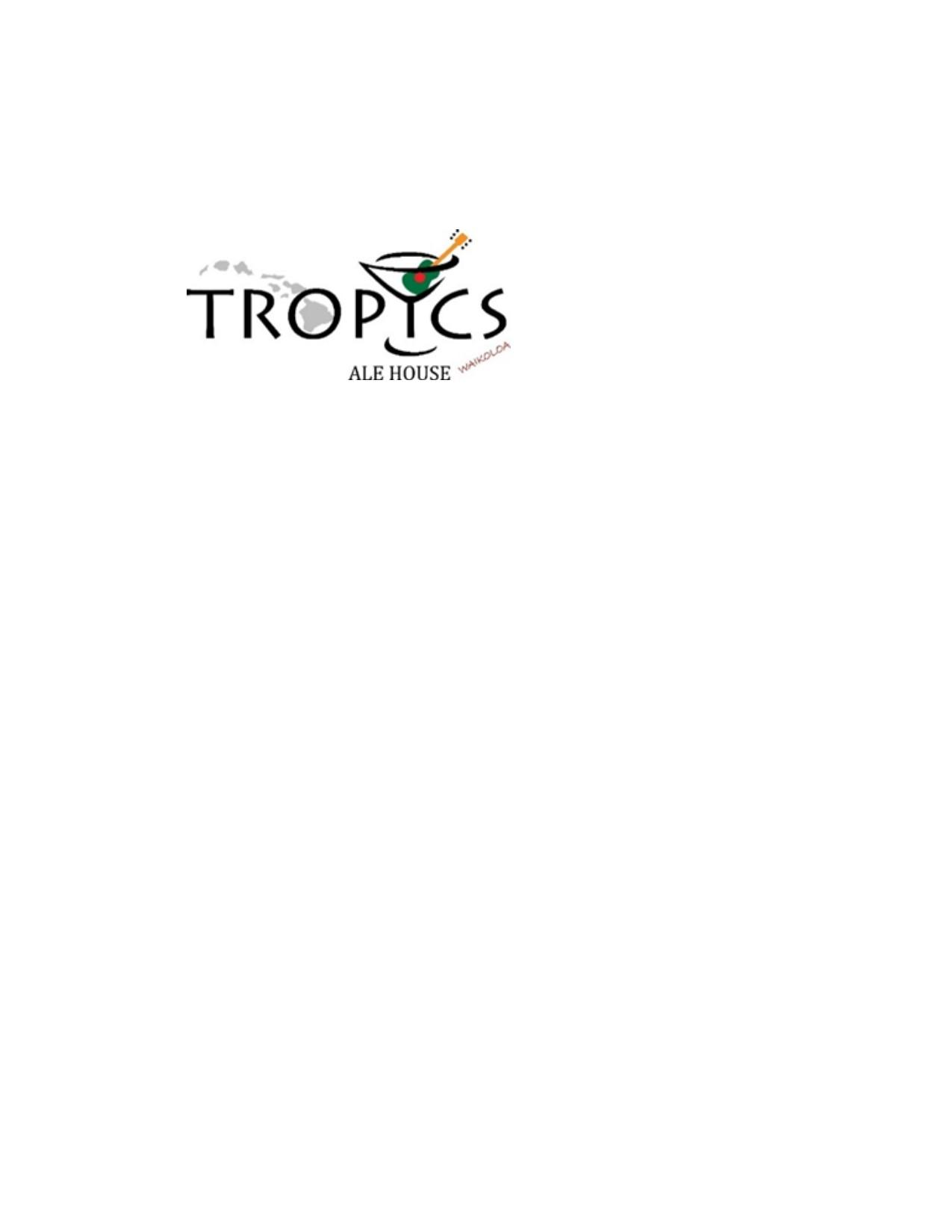 Tropics Ale House Waikoloa
